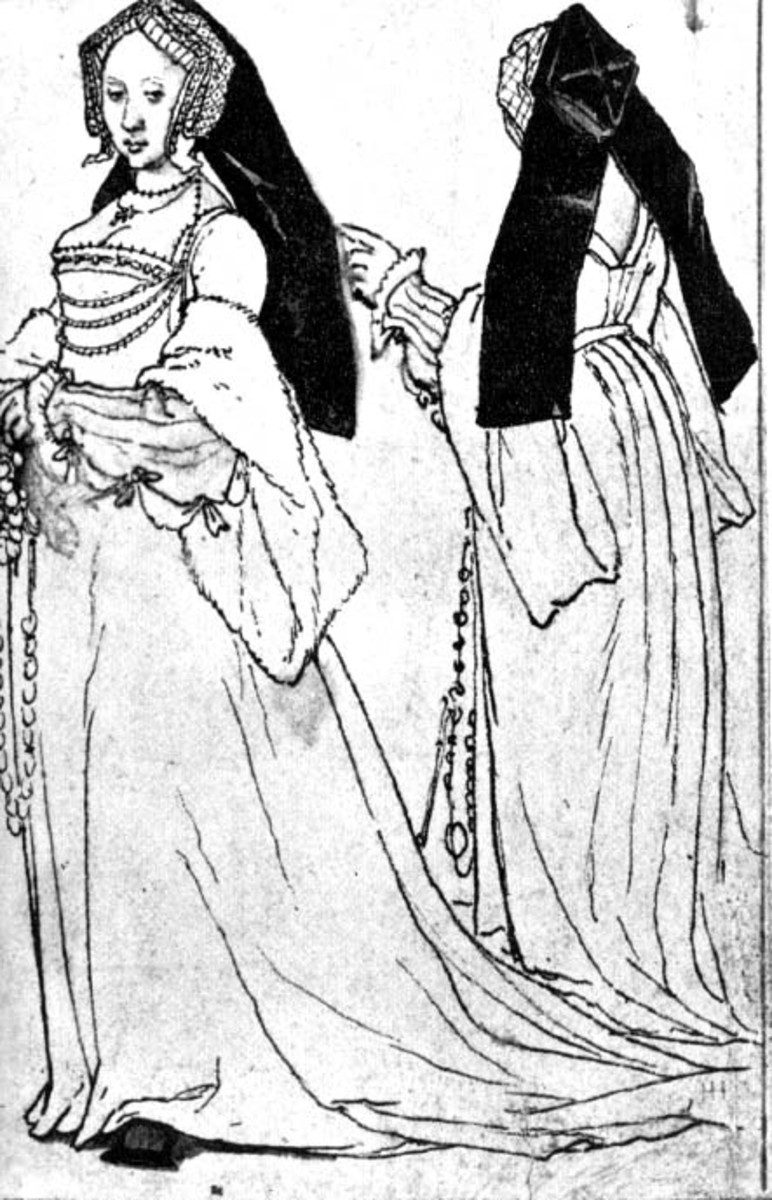 Holbein's sketch showing the back of the third version.