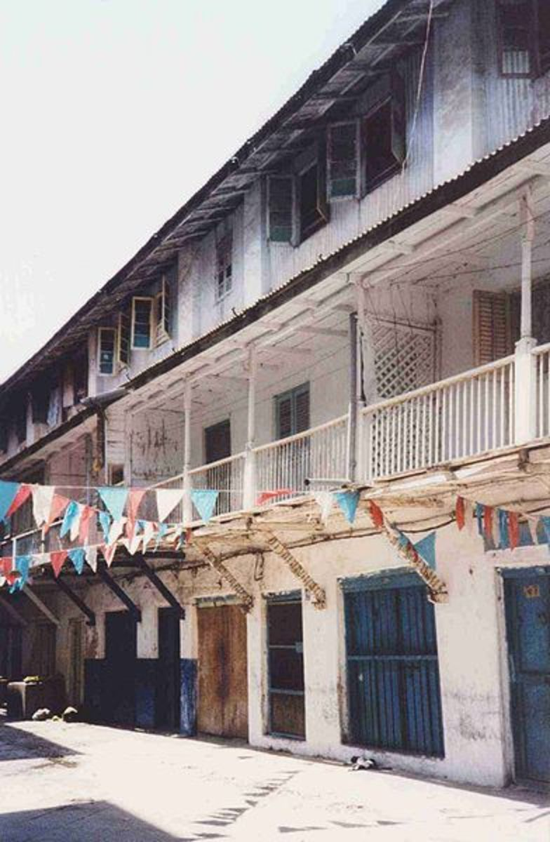 The house in Zanzibar where Freddie lived with his parents.