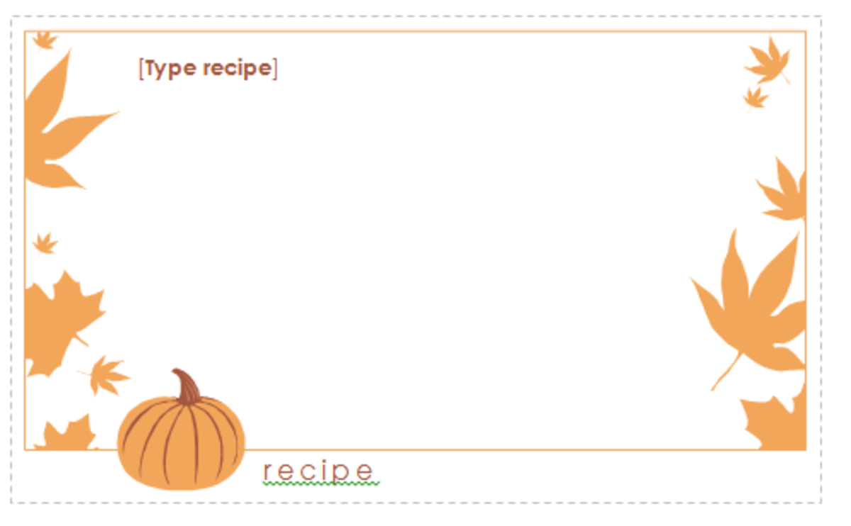 how to create free recipe cards with a template