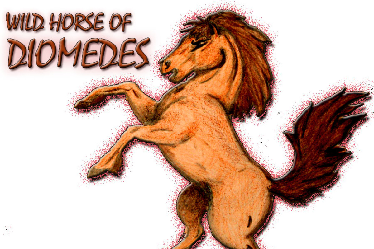 The wild horses of Diomedes were one of the twelve labors Hercules would have to endure to cleanse his soul of sin.