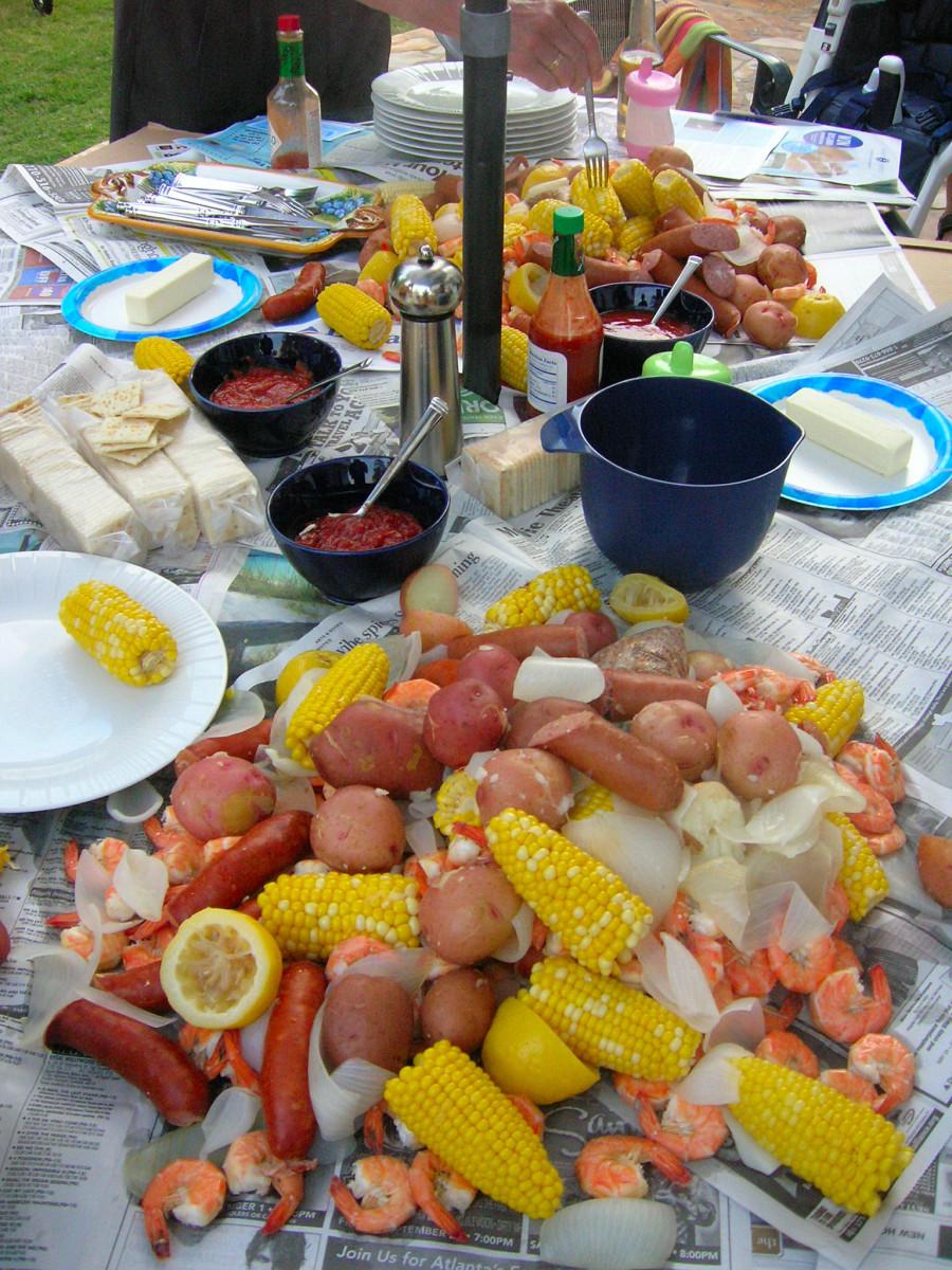 Have a Cajun shrimp boil!