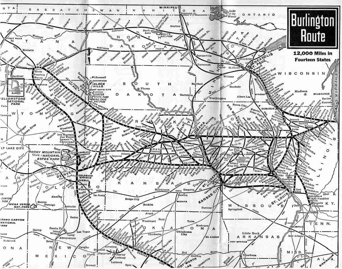 History of the Chicago Burlington Quincy Railroad HubPages