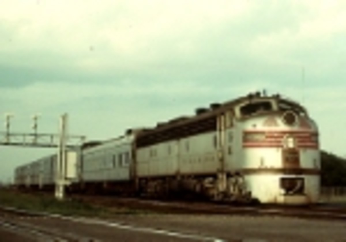 A Burlington commuter train