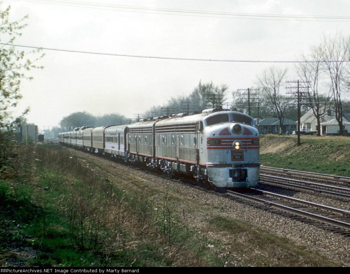 The Morning Zephyr on its final miles to Chicago