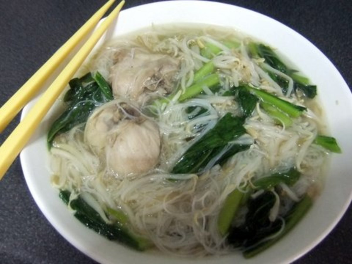 My Chicken Noodle Soup recipe using instant rice vermicelli