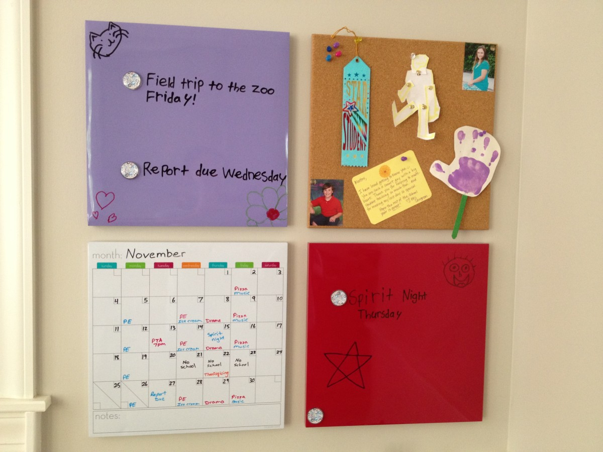 Use dry-erase boards to keep up with deadlines.