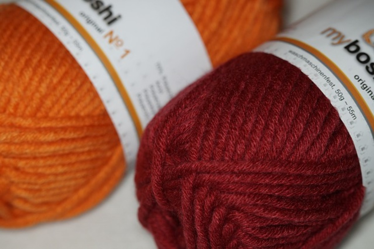 Most projects use worsted weight yarn.