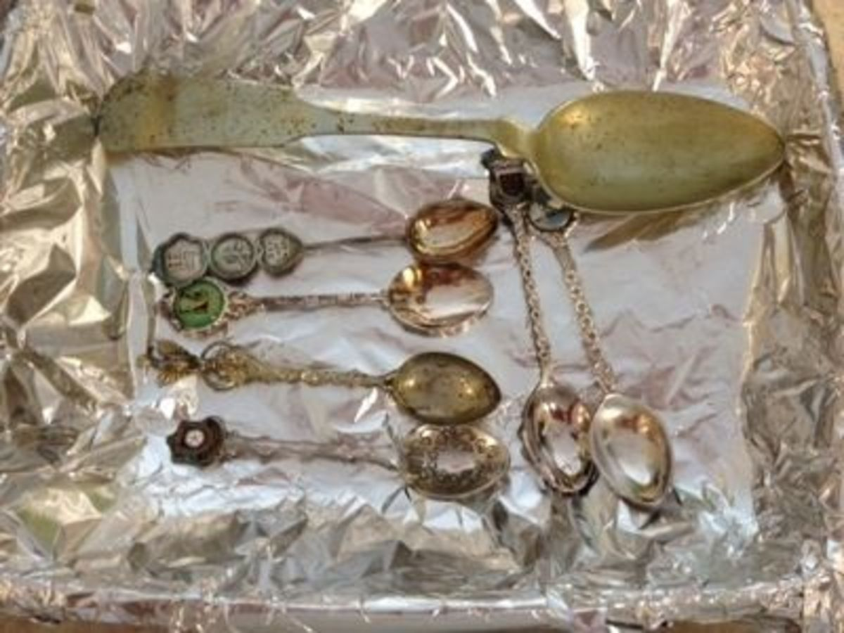 Tarnished spoons from my collection.