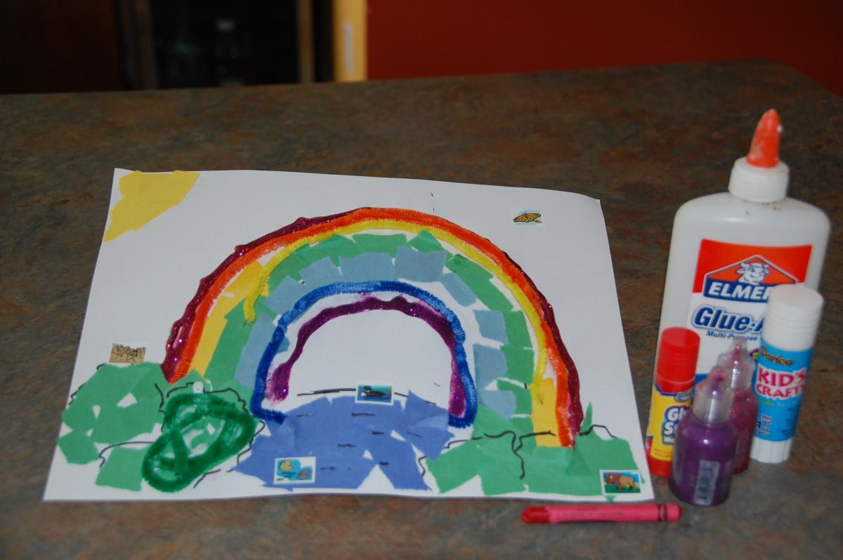 Mixed media rainbow