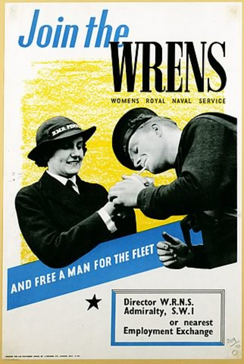Poster for How To Join The Wrens - all looks a bit flirty but who can resist a man in a sailor's uniform?