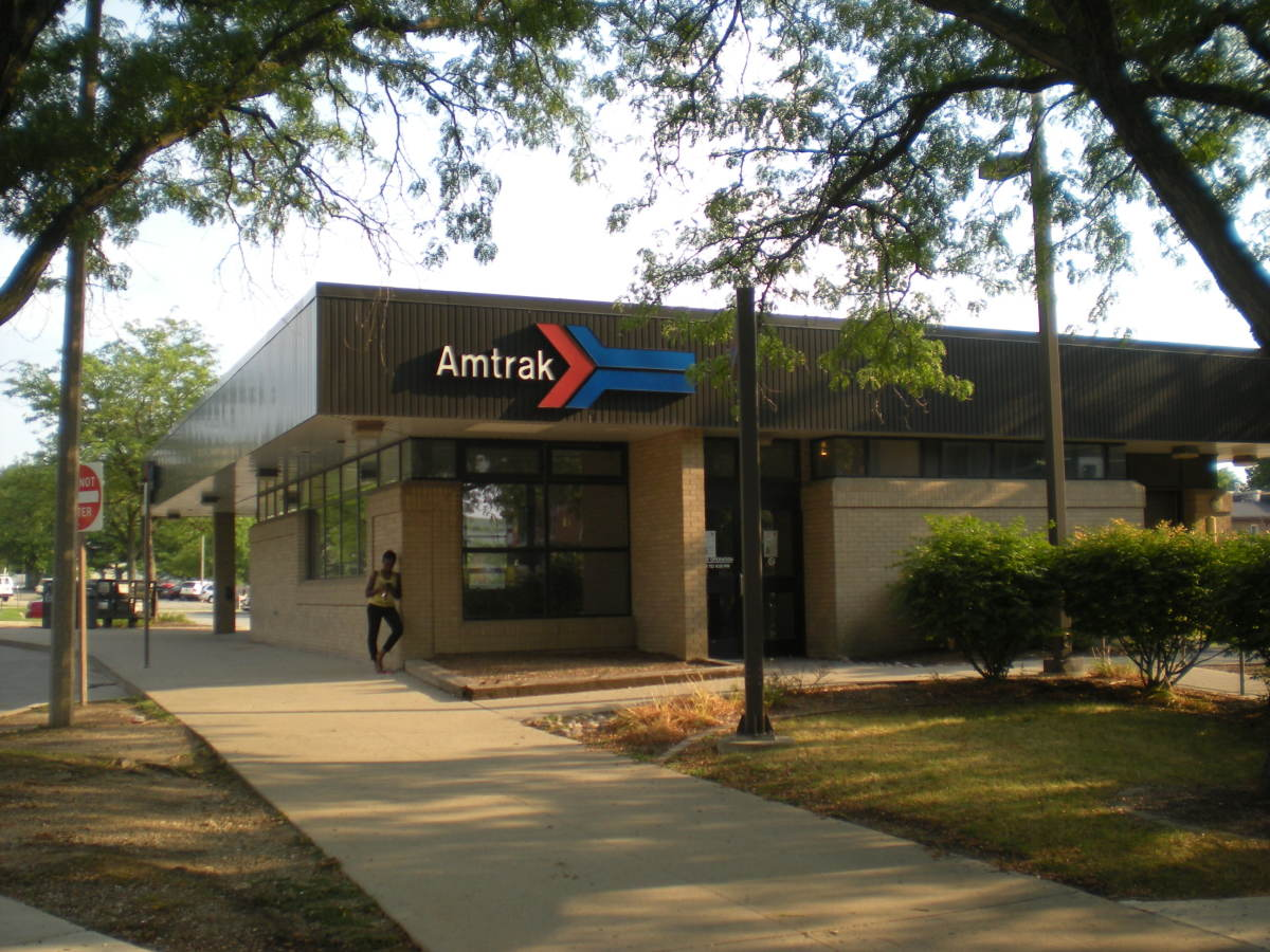 The Normal, Illinois Amtrak station that served the area from 1991-2012.