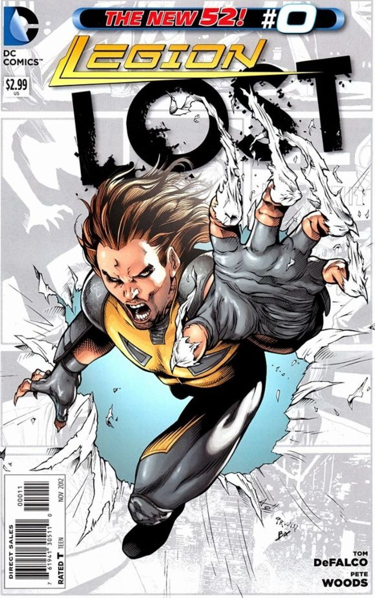 Legion Lost #0The origin story of Brin Londo, Timber Wolf. As a young boy, Brin's father develops a miraculous cure for all diseases but is disrupted by his benefactor, Lord Vykor. Preparing for the worse, he injects himself and Brin, but dies in th