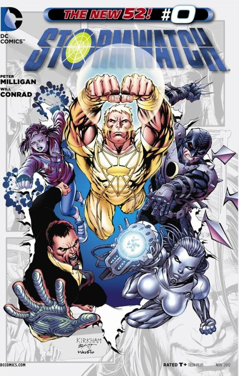Stormwatch #0Adam One appears and visits Jenny Quantum at Stormwatch HQ. He then details to her the history of the Demon Knights, the Century Babies, their powers, and the trials they've faced throughout their lives. Adam One then leaves warning Jen