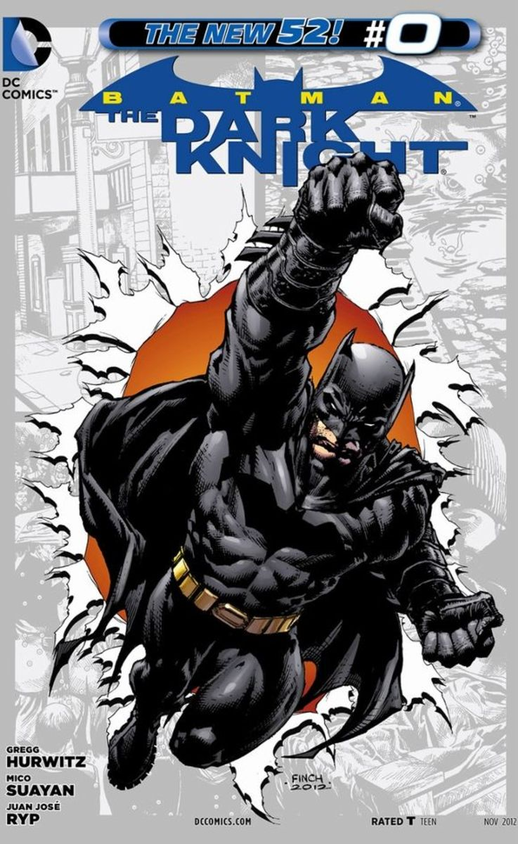 Batman The Dark Knight #0A young Bruce Wayne attempts to find the reason his parents were killed that terrible night in Crime Alley, but learns nothing until he finally becomes an adult. Returning to his notes, he tracks down a bum that leads him to