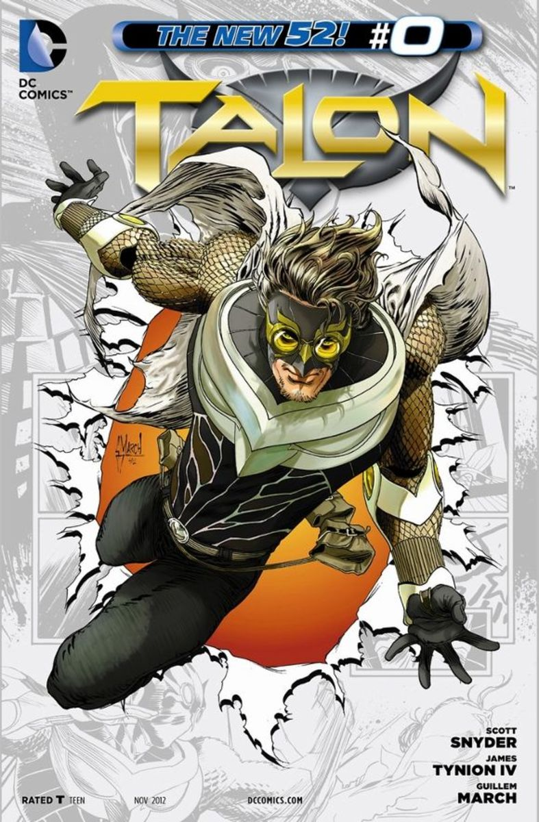 Talon #0Calvin Rose tells us his story while chained in a car plunging into the river. Raised by an abusive father, he escapes and finds Haley's Circus, where he gains the skills as an escape artist. After showing his perfection of the art, he is re