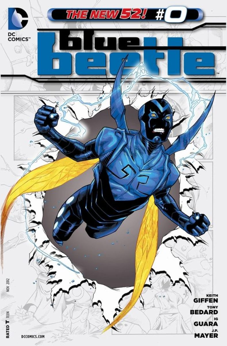 Blue Beetle #0The Scarab teaches Jaime Reyes its origin as a symbiotic-bonding creature imbued with Reach technology and it's failures and successes to assimilate with beings in the past. Jaime learns that these trials may be the factor which has al
