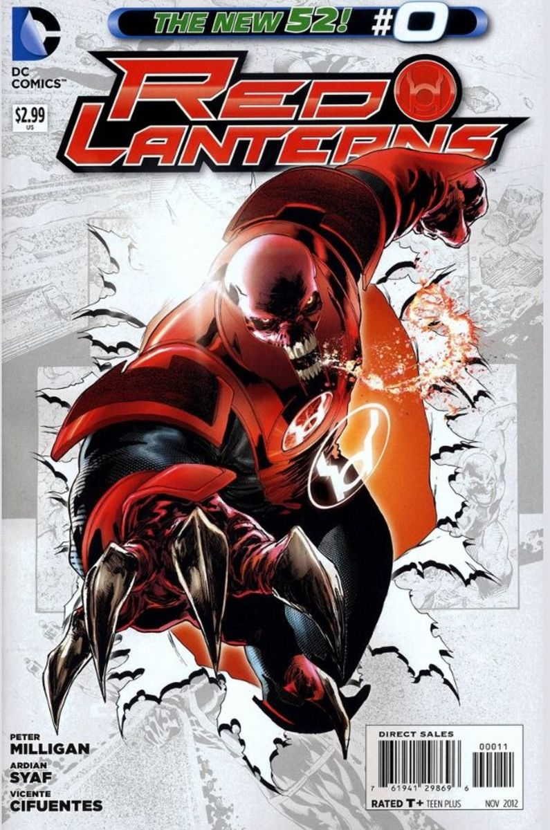 Red Lanterns #0In this issue, the story and origin of the creature that would become Atrocitus, legendary leader of the Red Lanterns, is told. Beginning with the corruption of the Manhunters, his induction into the inversion, and the creation of the