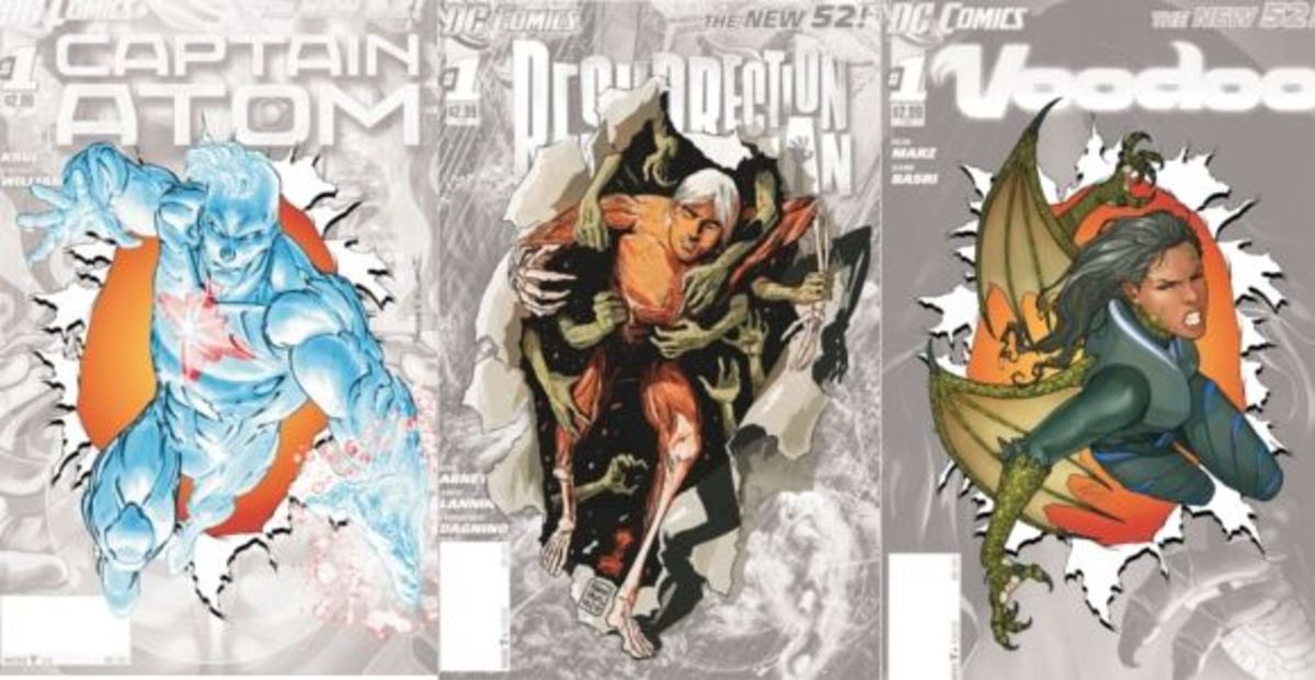 "Captain Atom, Resurrection Man, and Voodoo will be discontinued for DC ""0"" Month."