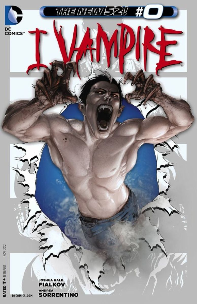 "I, Vampire #0Lord Andrew Bennett first story. While travelling, he writes to his beloved ""Mary"", but suddently his coach breaks down and his is hurt. On the road, Cain, the first vampire, prepares to devour him. The two go through their stories, but"