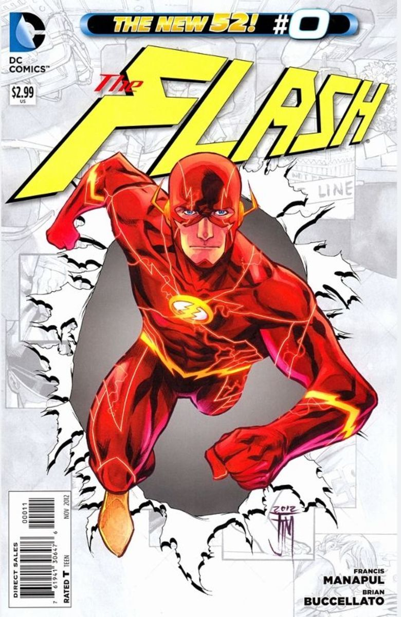 The Flash #0Wrapped up in his origin story, Barry Allen recalls the murder of his mother, and how the investigators arrested and imprisoned his father. Every year, Barry returns to the case, searching for more clues. He believes his father is innoce