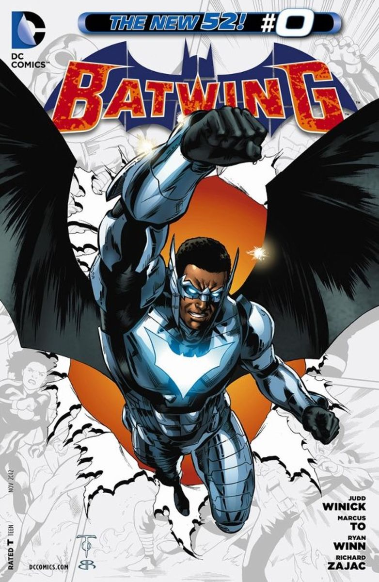 Batwing #0David Zavimbe has grown up on the war-torn, corrupt contintent of Africa, born and bred from the horrors within. Once of age, he becomes a policeman; suddenly his mentors are attacked by Death Jack. In response, he becomes a vigilante, bri