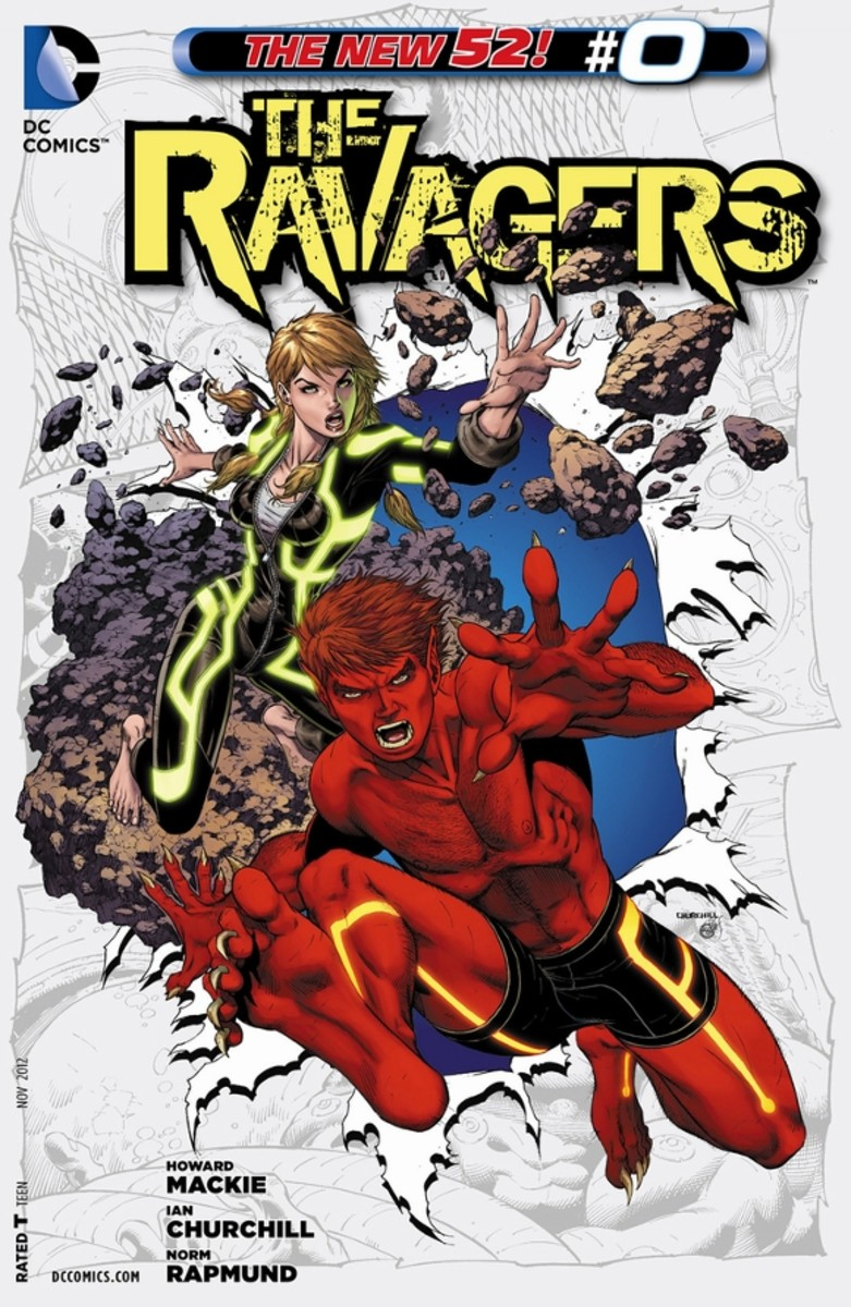 Ravagers #0Before the villain Harvest began his Culling, he captured two unsuspecting teenagers who would become Beast Boy and Terra. Together, the two learn to use their powers and join forces while fending off other attackers.