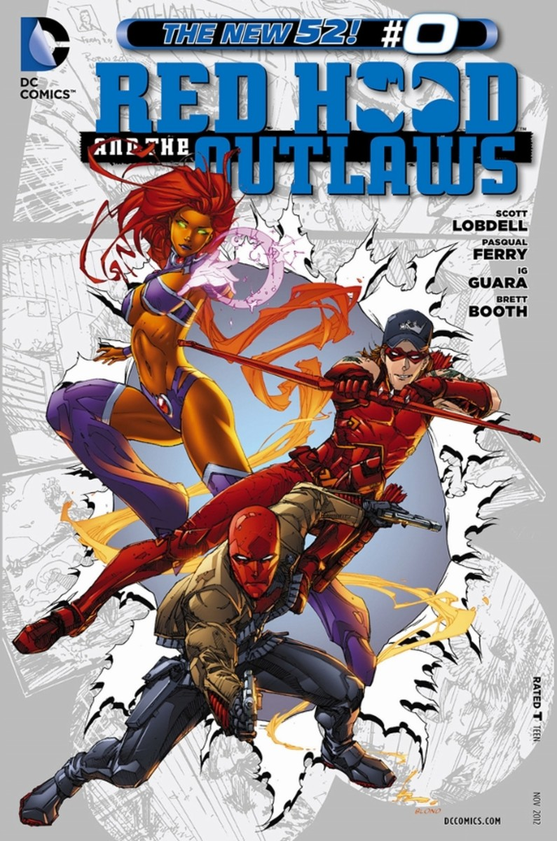 "Red Hood and the Outlaws #0The origin of Jason Todd, who became the second to wear the mantle of Robin, the first to die, and the only one to become resurrected in the Lazarus Pit and don the name ""Red Hood"". In the first part, Jason tells the story"