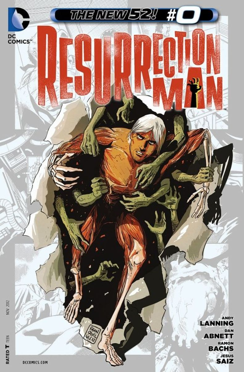 Resurrection Man #0Mitch Shelly isn't who you think he is...he's the exact copy of himself, a resurrection of his original self by the process of the Tektite solution. Now he faces himself in a battle that even angels and demons have placed a wager.