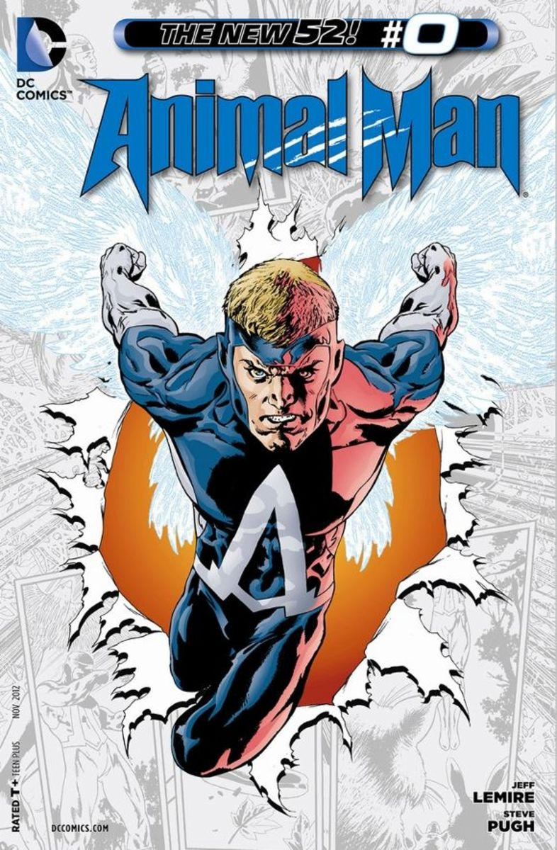 Animal Man #0With their current champion murdered by the avatar of The Rot, the totems of The Red decide to imbue the father of their next Avatar, Buddy Baker, with the powers of Animal Man. His job will be to herald his daughter's arrival and in th