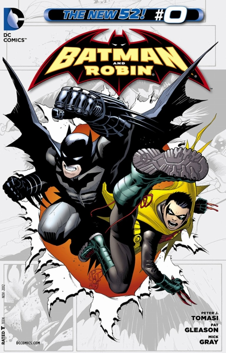 Batman and Robin #0The origin of Damian Wayne from his birth to his first meeting with his father, Bruce Wayne. Damian is raised and trained by Talia al Ghul under the teachings of the League of Shadows and is an expert in assassination.