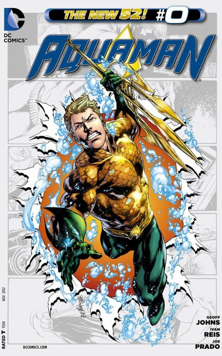 Aquaman #0Arthur Curry decides to find his mother once his father passes away, and goes through a series of adventures that lead him to Vulko, a former Atlantean Guard living in a small village. He learns that he is heir to the Atlantean throne, of