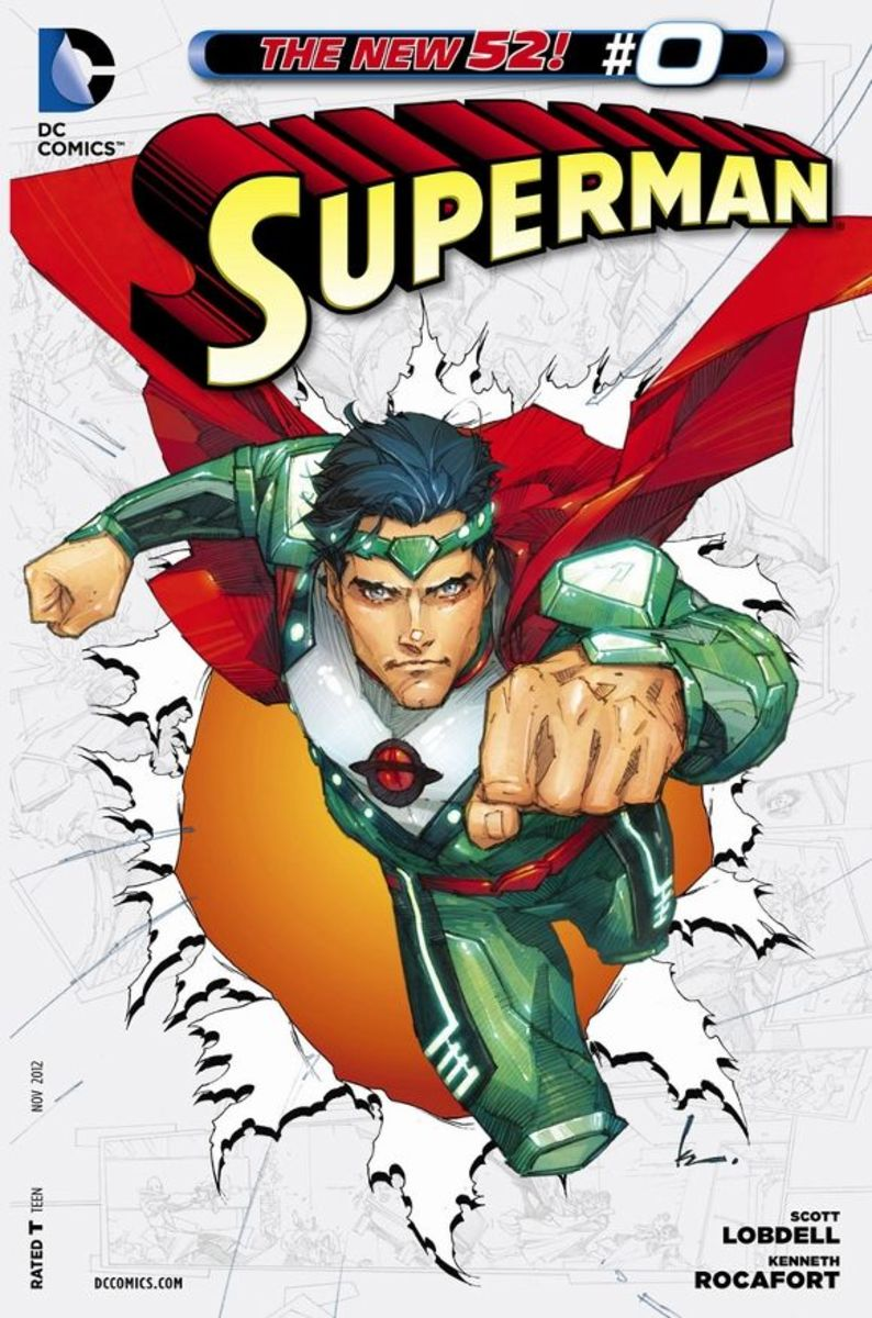 Superman #0The story of Jor-El, Superman's father of Krypton, who descended into the planet to learn that its destruction was assured. Upon returning, his information awakens a doom cult that attempts to exterminate him, his family, and every trace