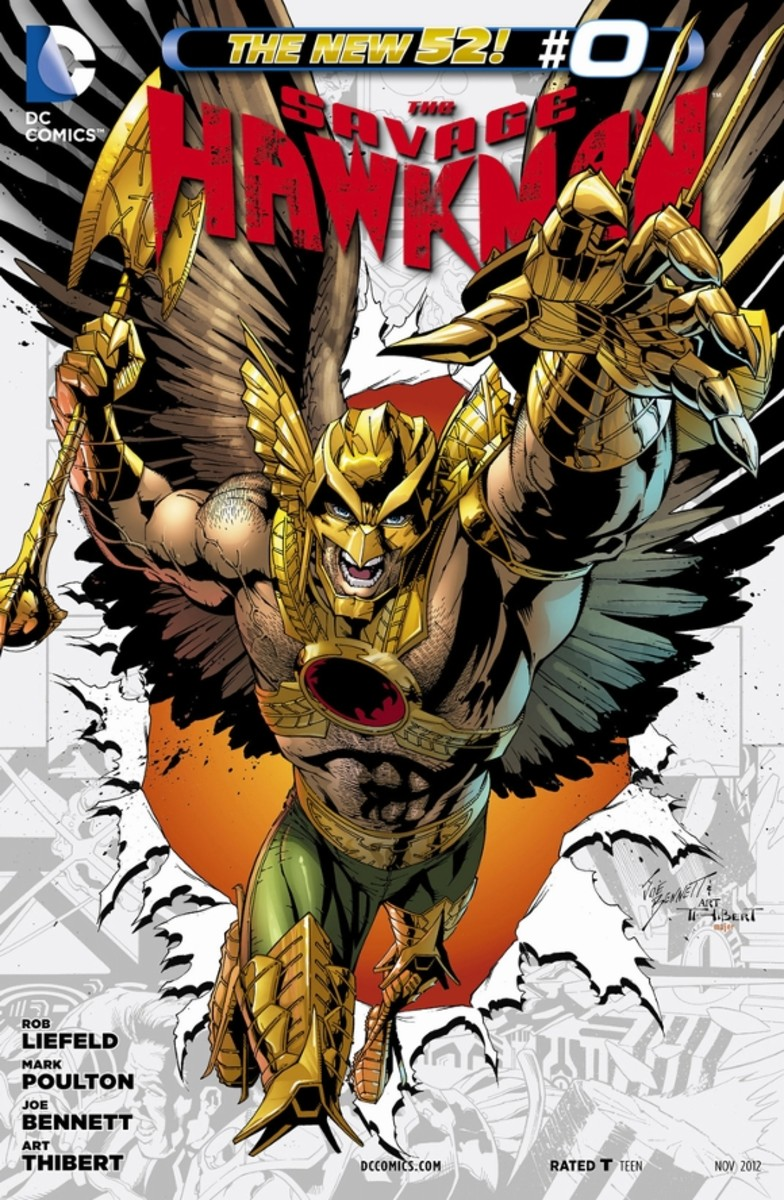 Savage Hawkman #0From Shayera's perspective, the recent history of Thanagar, where they were embattled against Demonites and Czarnians, and are betrayed one they sue for peace, with a disease that destroys their wings. Katar Hol is Shayer's lover an