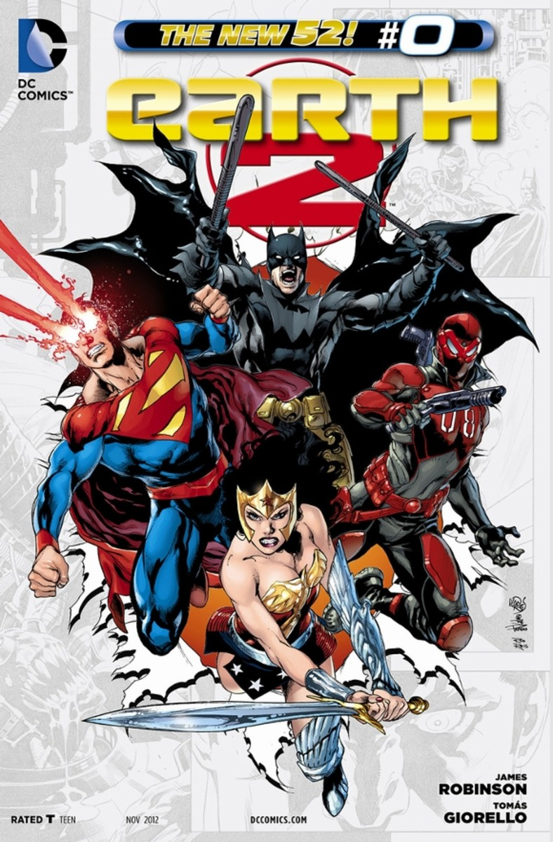 Earth 2 #0Terry Sloan is the most intelligent man in the world in this alternate reality. Once the minions of Apokolips invade, he realizes that he must become their hero or greatest villain, making the planet stronger, and enacting a master plan th