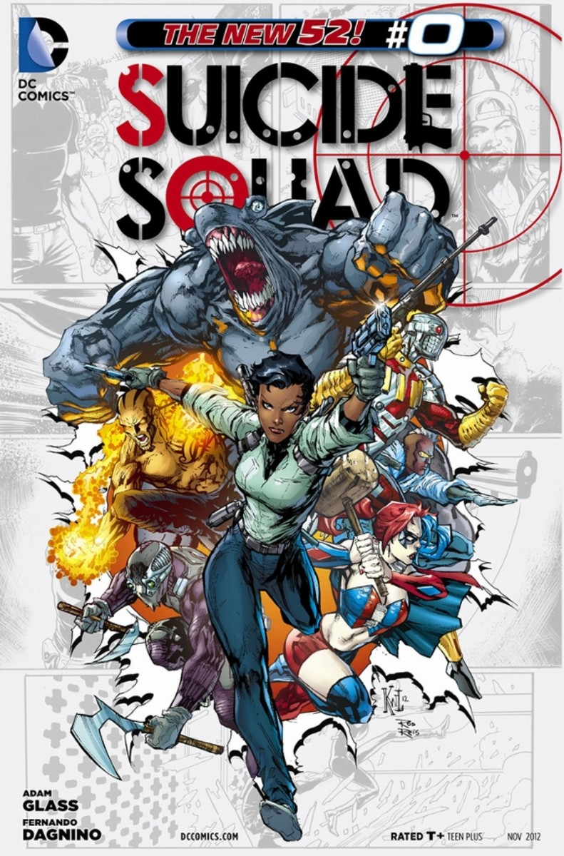 Suicide Squad #0Amanda Waller has left Team 7, but then she's called back to fight Regulus and take care of a terrorist plot. After saving the day and putting one of her men to rest, she comes up with the idea of placing prison inmates in a program