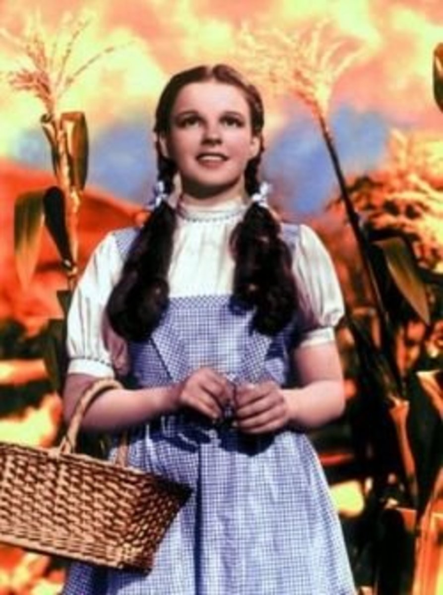 Judy Garland as Dorothy Gale from The Wizard OZ