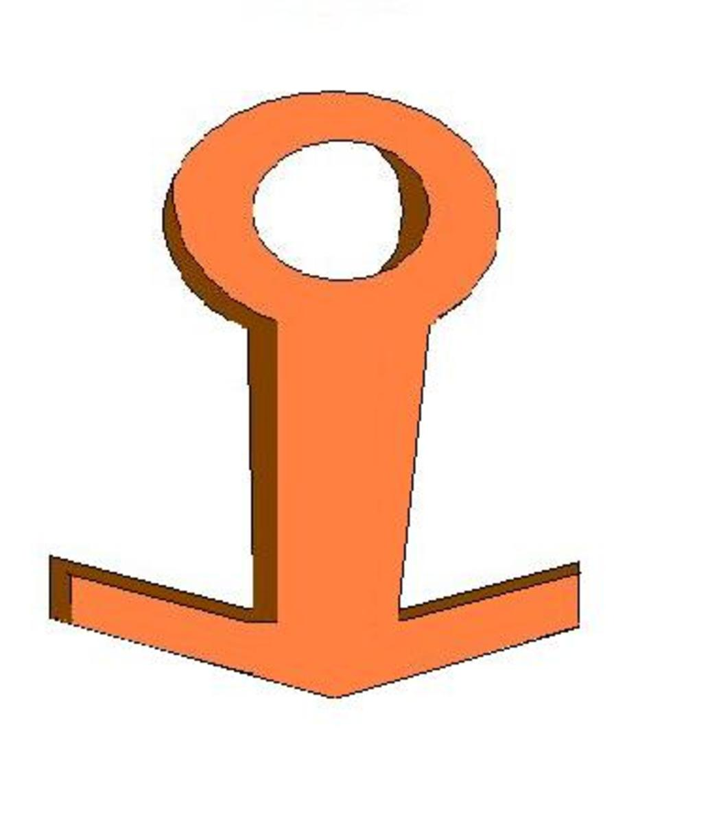 The Anchor - used to ensure that ships do not go adrift