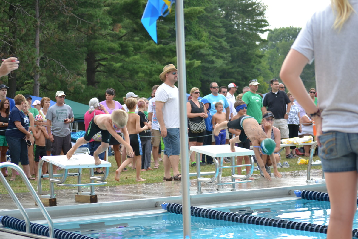 Son competing in a freestyle event