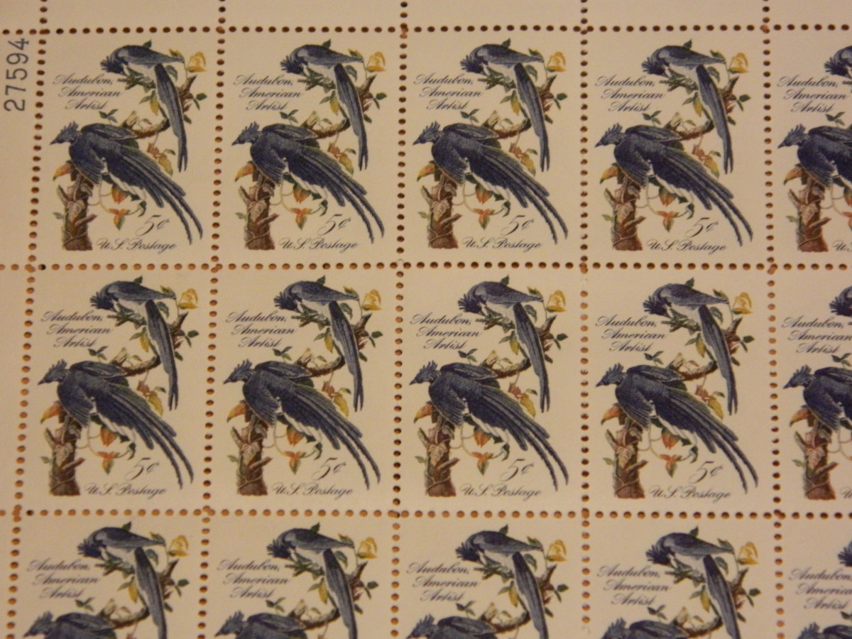 a sheet of 50 (unused stamps)