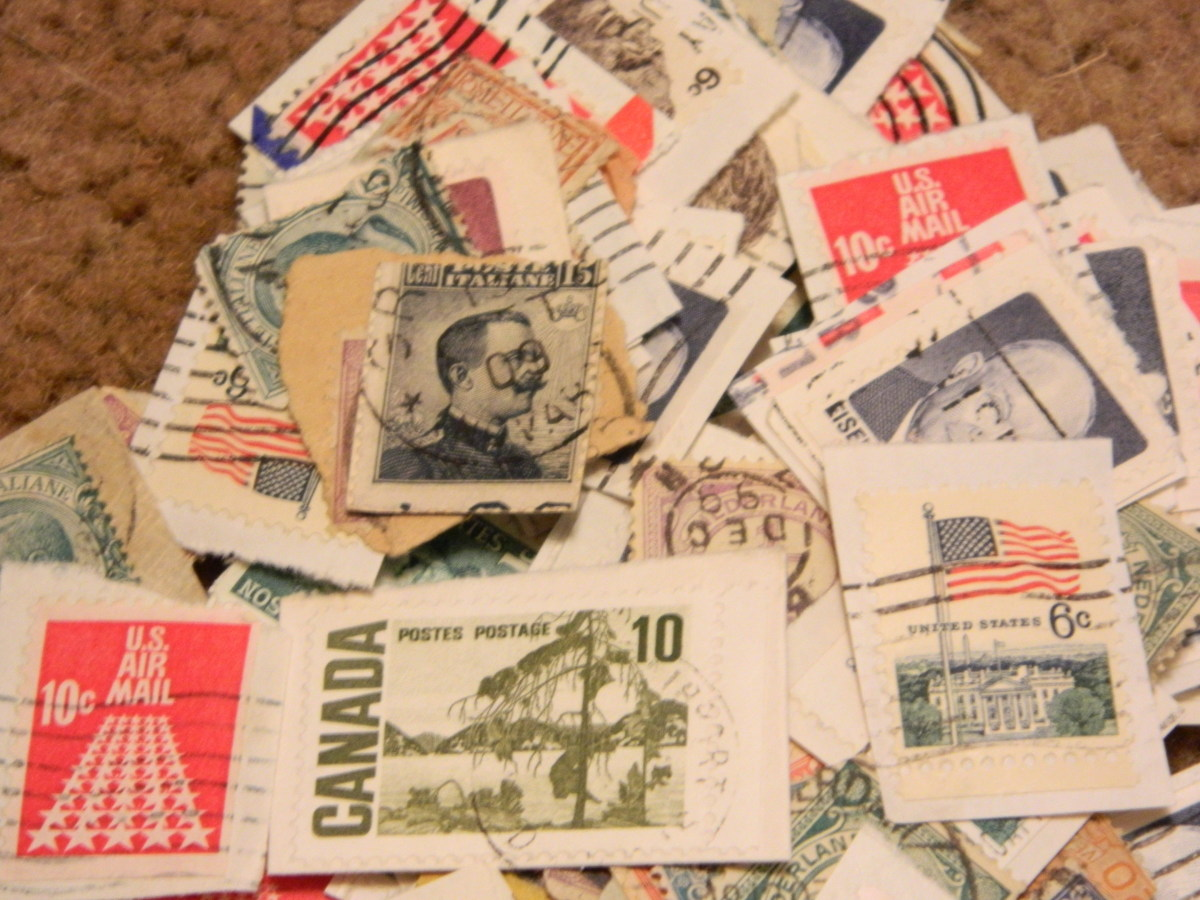 An assortment of postally used stamps