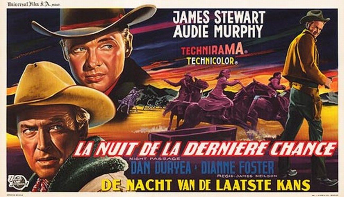 Night Passage 1957 Belgian poster
