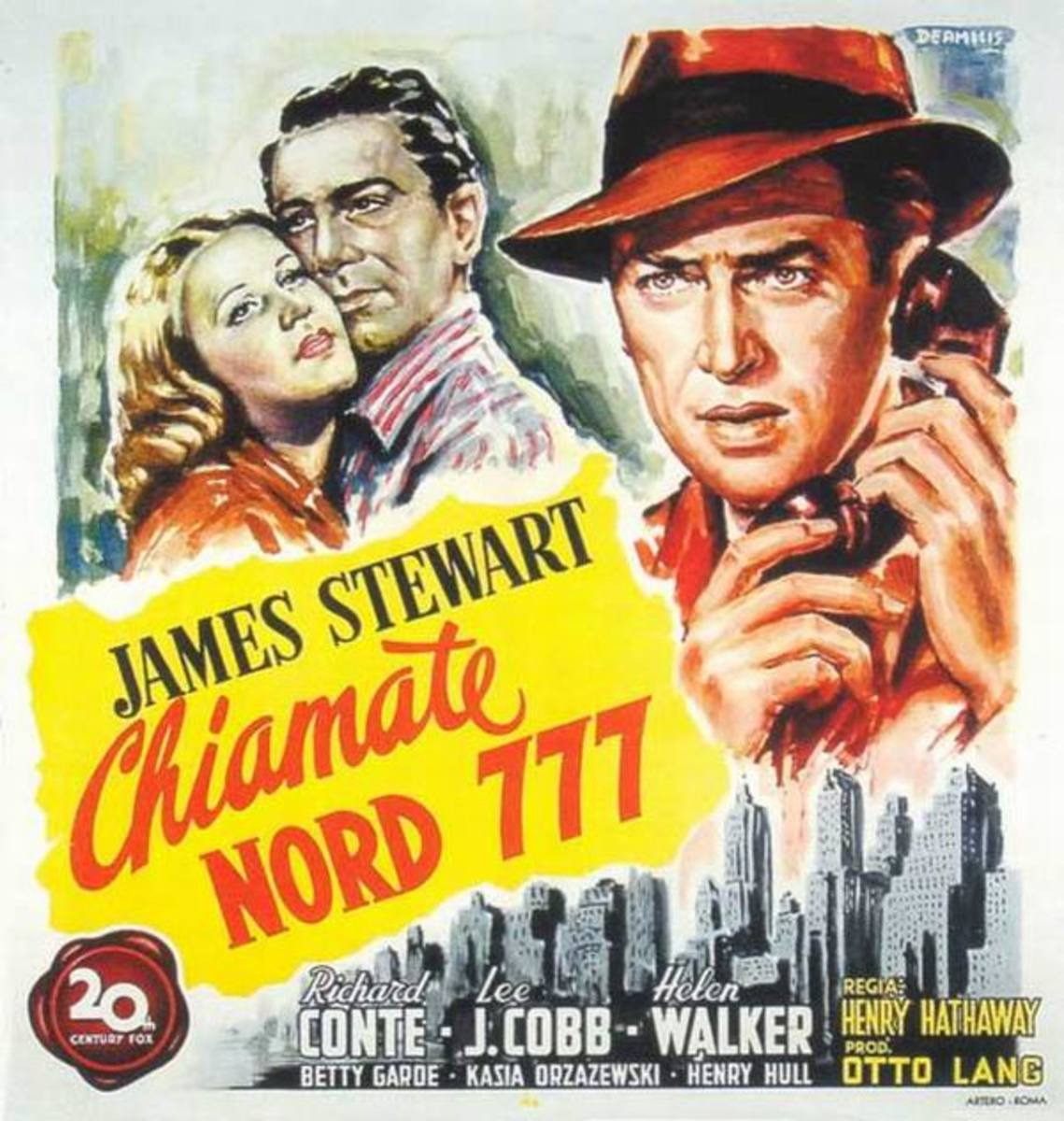 Call Northside 777 (1948) Italian poster