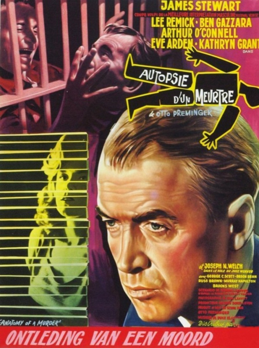Anatomy of a Murder (1959) Belgian poster