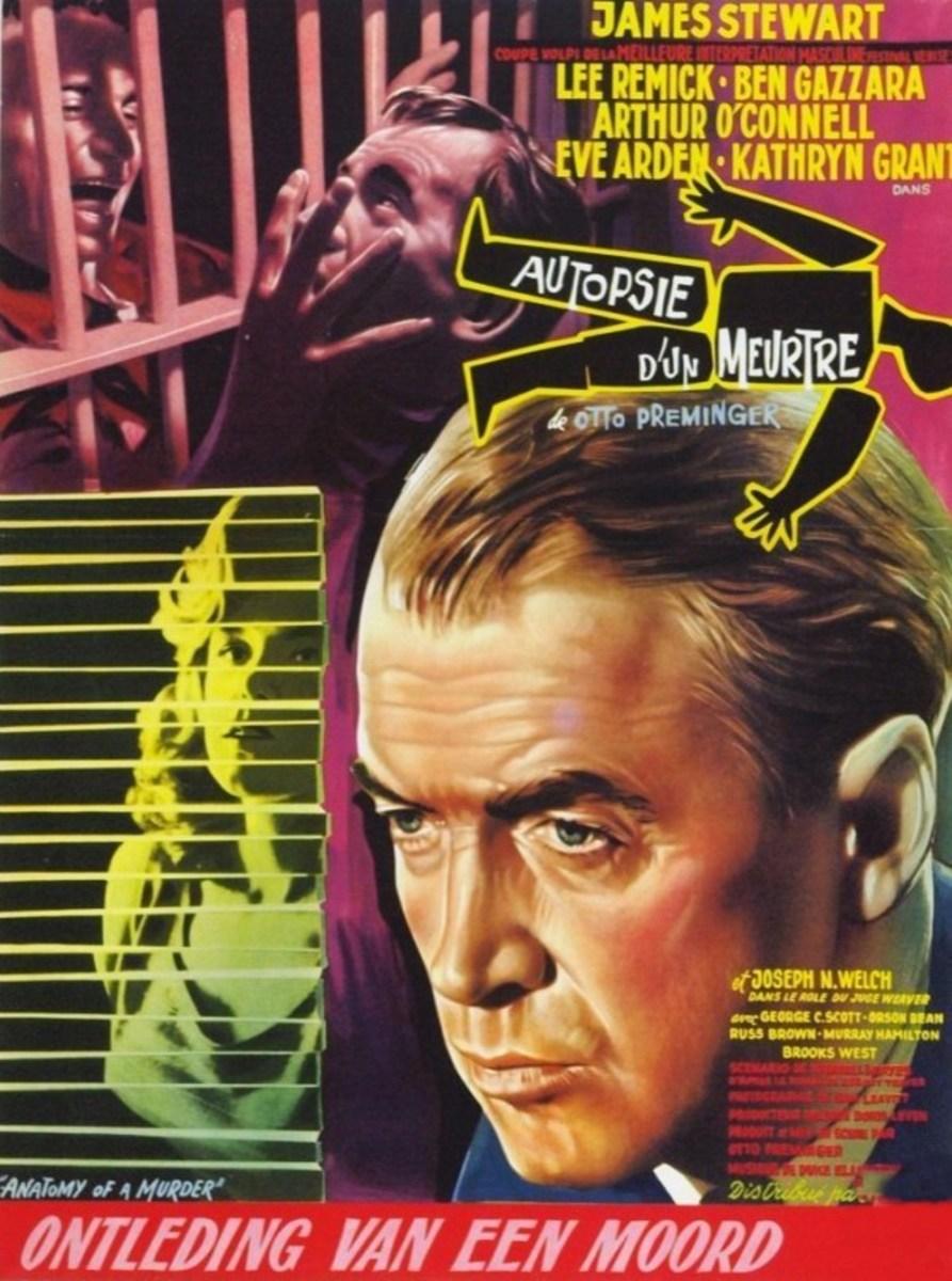 Anatomy of a Murder (1959) Belgian poster