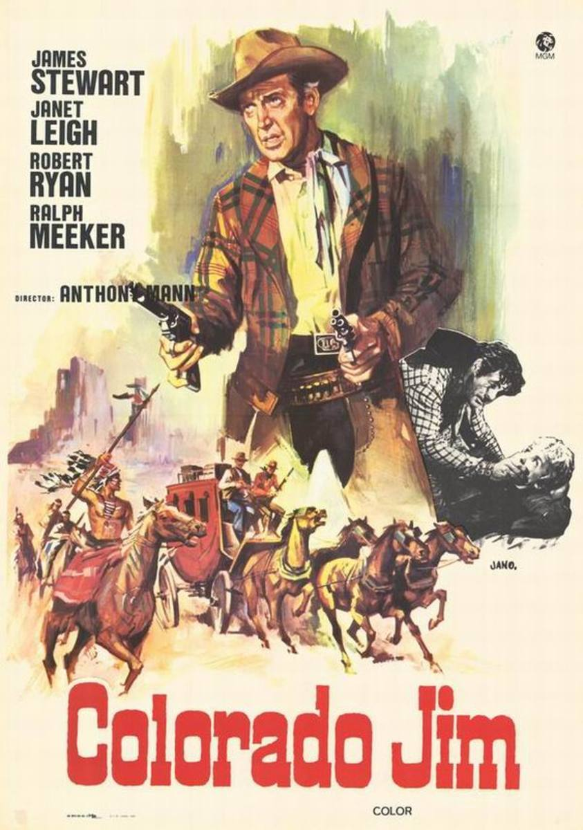 The Naked Spur (1953) Spanish poster