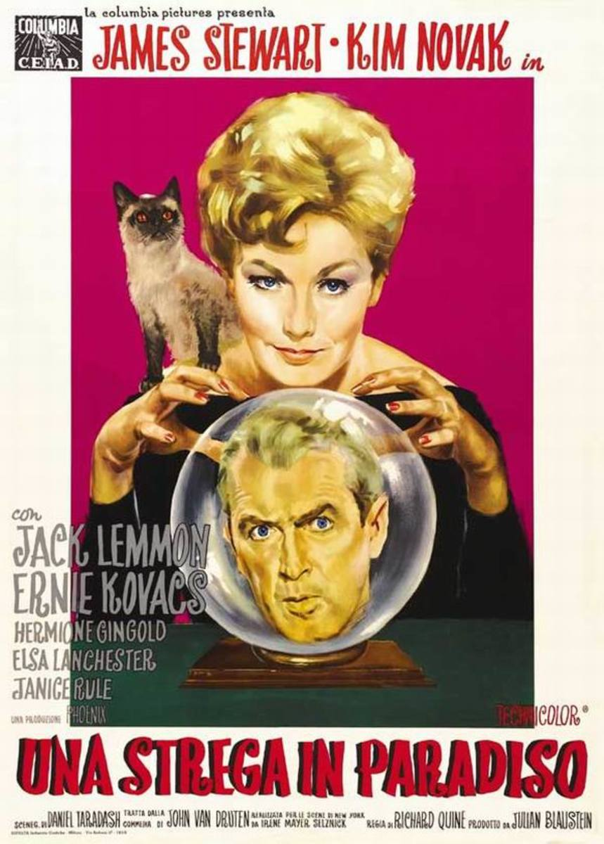 Bell Book and Candle (1958) Italian poster