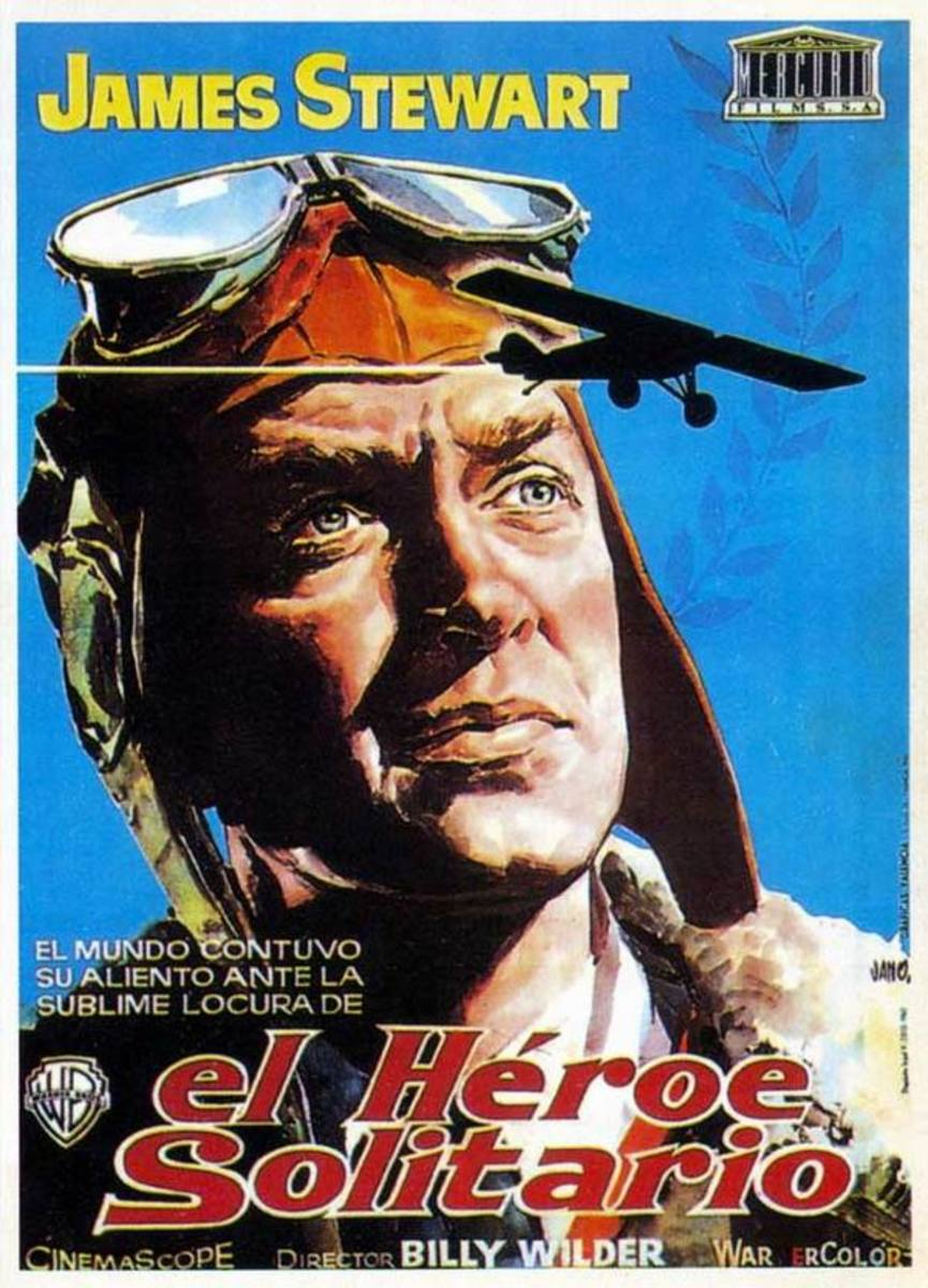The Spirit of St Louis 1957 Spanish poster