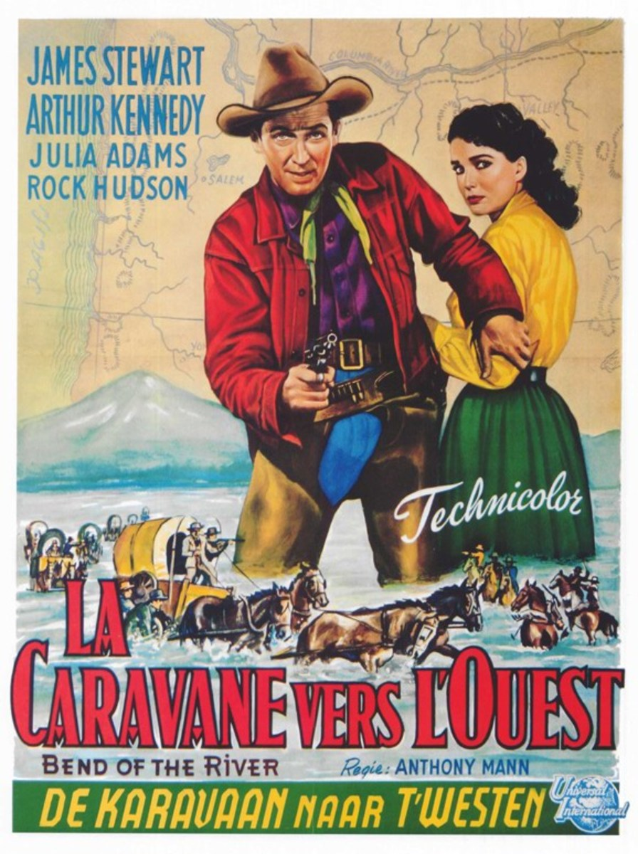 Bend of the River (1952) Belgian poster