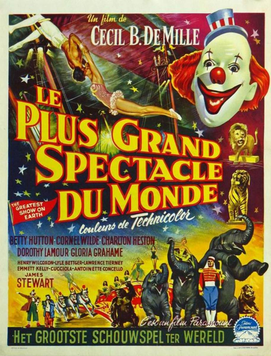 The Greatest Show on Earth 1952 Belgian poster
