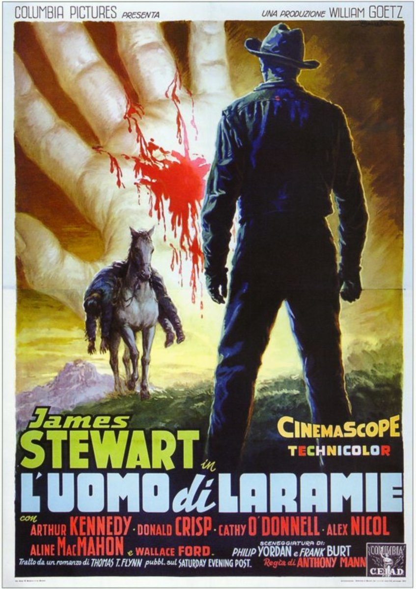 The Man from Laramie 1955 Italian poster